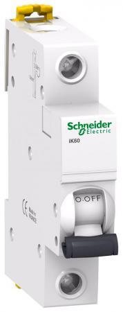 Автоматический выключатель Schneider Electric iK60 1П 63A C A9K24163 автоматический выключатель schneider electric ik60 1п 16a c a9k24116