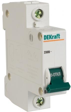 цена Автоматический выключатель DEKraft ВА-103 1П 10А C 6кА 12056DEK