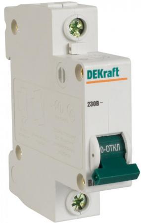 Автоматический выключатель DEKraft ВА-103 1П 6А C 6кА 12054DEK автоматический выключатель dekraft ва 103 1п 6а c 6ка 12054dek