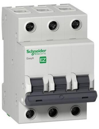 Автоматический выключатель Schneider Electric EASY 9 3П 10A C EZ9F34310 выключатель автоматический модульный schneider electric 3п c 40а 4 5ка easy 9 sche ez9f34340