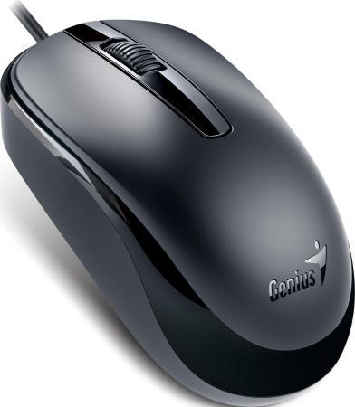 Мышь проводная Genius DX-120 чёрный USB мышь проводная genius dx 100x чёрный usb