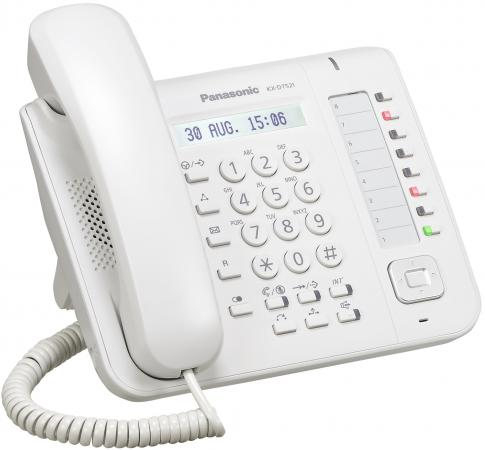 Телефон Panasonic KX-DT521RU белый проводной и dect телефон foreign products vtech ds6671 3