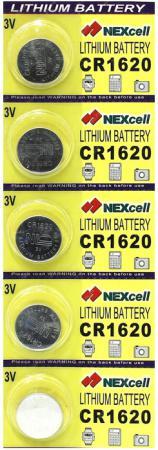 Батарейки NEXcell CR1620 CR1620 5 шт