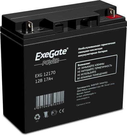 Батарея Exegate 12V 17Ah EG17-12 EXG12170