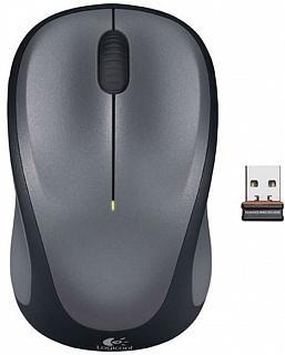 Мышь беспроводная Logitech M235 серый USB + радиоканал 910-002201