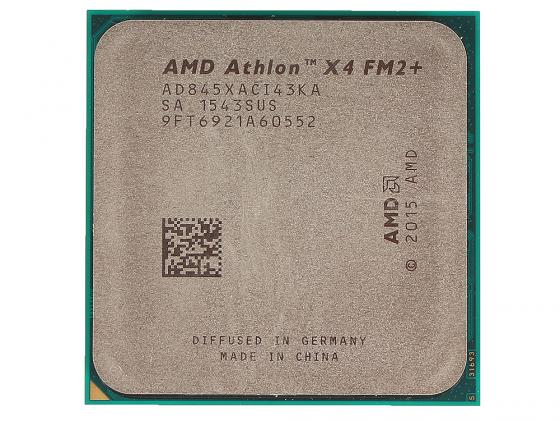 Процессор AMD Athlon X4 845 AD845XACI43KA Socket FM2+ OEM процессор amd a4 4000 ad4000okhlbox socket fm2 box