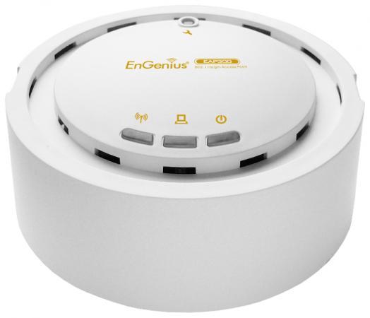 Точка доступа EnGenius EAP300 802.11n 300Mbps 2.4 ГГц маршрутизатор engenius enh900ext 802 11n 450mbps 5 ггц 2 4 ггц 2xlan белый