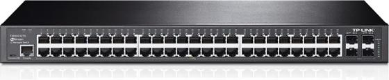 Коммутатор TP-LINK T2600G-52TS управляемый 48 портов 10/100/1000Mbps 4xSFP коммутатор tp link tl sg3424p управляемый l2 24 порта 10 100 1000mbps 24x13 3w poe 4xsfp