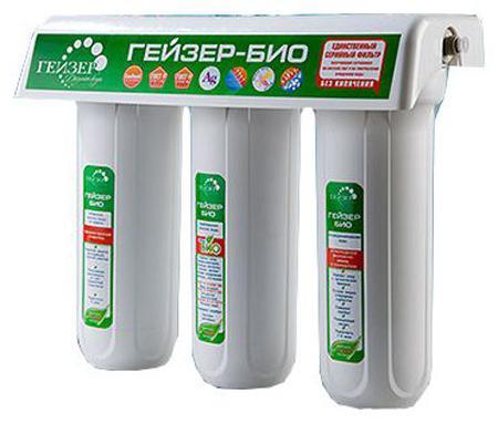 Фильтр Гейзер Био 331 для очистки свержесткой воды 16016 трехступенчатый фильтр для очистки жесткой воды гейзер ультра био 421