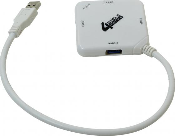 Концентратор USB 3.0 ORIENT BC-308W 4 х USB 3.0 белый концентратор usb 3 0 orient bc 315 4 х usb 3 0 3 x usb 2 0 черный