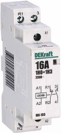 Модульный контактор DEKraft 1НО+1НЗ 16А 230В МК-103 18051DEK цена 2017