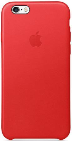 Накладка Apple Leather Case для iPhone 6 iPhone 6S красный MKXX2ZM/A чехол накладка apple leather case geranium для iphone 7 plus mq5h2zm a кожа красный