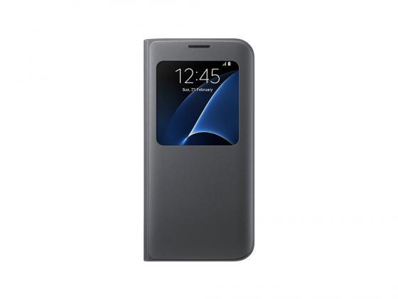Чехол Samsung EF-CG935PBEGRU для Samsung Galaxy S7 edge S View Cover черный чехол для смартфона samsung для galaxy s7 edge clear view cover серебристый ef zg935csegru ef zg935csegru