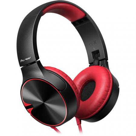 Наушники Pioneer SE-MJ722T-R черный/красный наушники pioneer se mj722t r черный красный