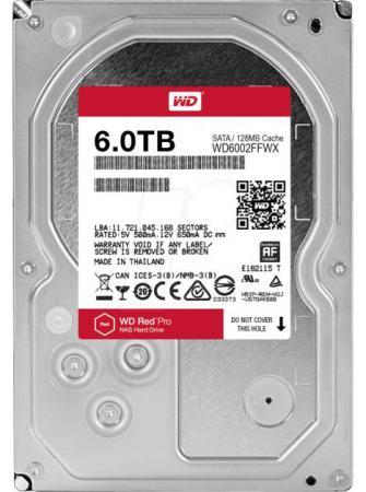 Жесткий диск 3.5 6 Tb 7200rpm 128Mb cache Western Digital Red Pro SATAIII WD6002FFWX