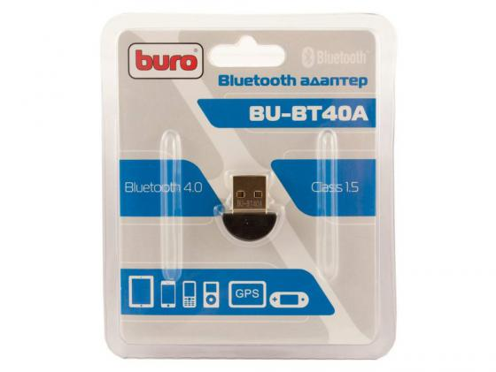 Беспроводной USB адаптер Buro BU-BT40A 3Mbps адаптер usb bluetooth v 2 1 buro