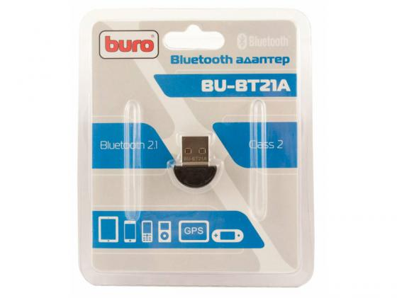 Беспроводной USB адаптер Buro BU-BT21A 3Mbps адаптер usb bluetooth v 2 1 buro