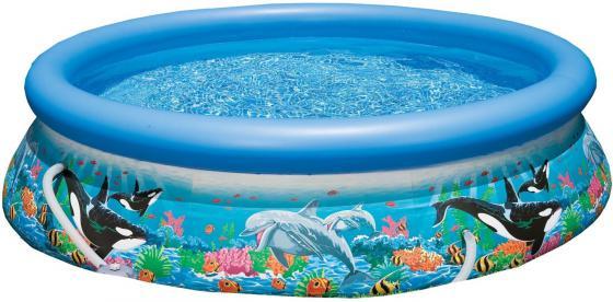Надувной бассейн INTEX Easy Set с рисунком 305х76 см 28124 бассейн easy set 305х76 см фильтр насос