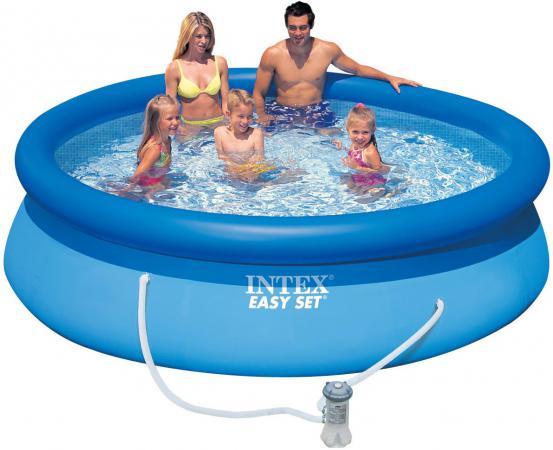 Надувной бассейн INTEX Easy Set, 305х76 см 28122 бассейн easy set 305х76 см фильтр насос