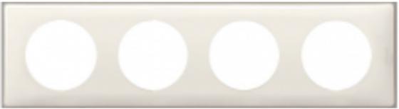 Рамка Legrand Celiane 4 поста слоновая кость 66624 рамка legrand celiane 2 поста белый 66632