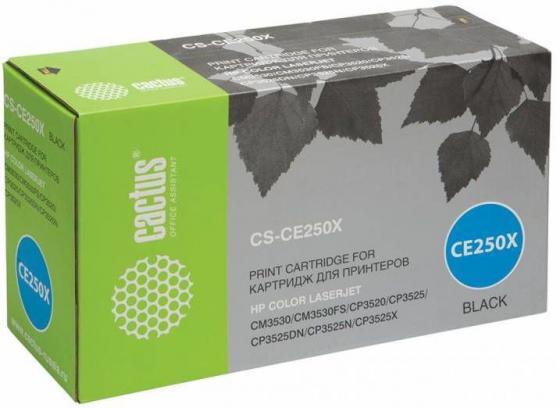 Фото - Тонер Картридж Cactus CS-CE250XR черный для HP CLJ CP3525/CM3530 (10500стр.) тонер картридж cactus cs ce250av черный 5000стр для hp clj cm3530 cp3525