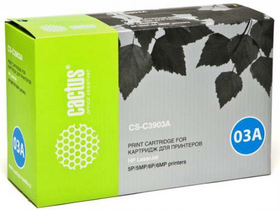 Тонер Картридж Cactus CS-C3903A черный для HP LJ 5MP/5P/6MP/6P (4000стр.) cactus cs c4127x black тонер картридж для hp lj 4000 4050