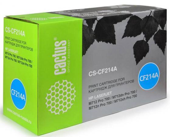 Фото - Тонер Картридж Cactus CS-CF214AR черный для HP LJ 700 MFP M712 (10000стр.) картридж cactus cs pfi102mbk для canon ipf500 ipf600 ipf700 mfp m40 ipf765 lp17 lp24 черный матовый