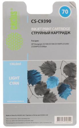 Картридж струйный Cactus CS-C9390 №70 светло-голубой для HP DJ Z3100 (130мл) cactus cs c4913 82 yellow картридж струйный для hp dj 500 800c