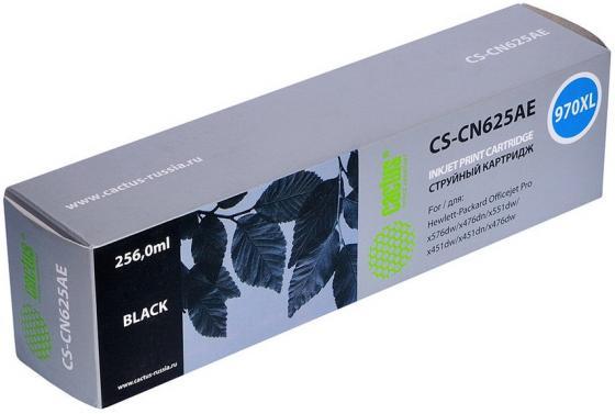 Картридж струйный Cactus CS-CN625AE №970XL черный для HP DJ Pro X476dw/X576dw/X451dw картридж cactus cs ch565a 82 для hp dj 510 510 черный