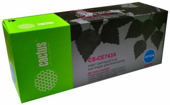 Тонер Картридж Cactus CS-CE743AR пурпурный для HP LJ Pro CP5220/CP5221 (7300стр.) цена