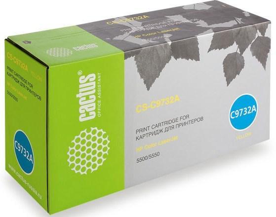 Тонер Картридж Cactus CS-C9732AR желтый для HP CLJ 5500/5550 (12000стр.) картридж cactus cs q6462ar для hp clj 4730 желтый 12000стр