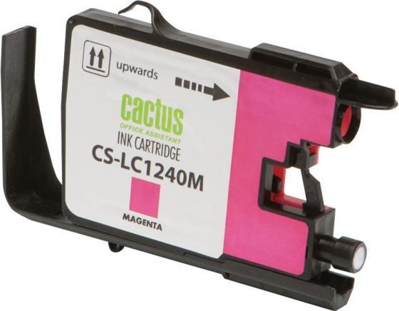 Картридж струйный Cactus CS-LC1240M пурпурный для Brother MFC-J6510/6910DW (12мл) струйный картридж brother lc1240c голубой для mfc j6510 6910dw