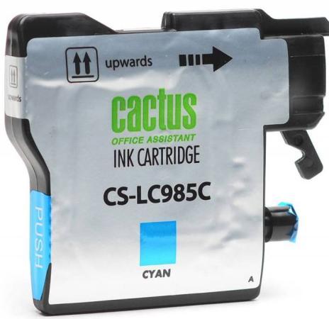 цена на Картридж струйный Cactus CS-LC985C голубой для Brother DCPJ315W/DCPJ515W/MFCJ265W (15мл)