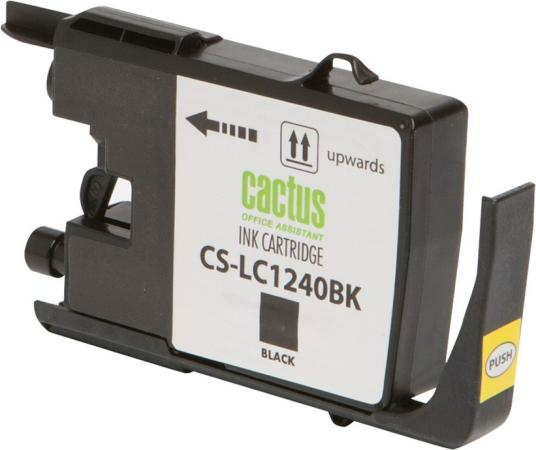 Картридж струйный Cactus CS-LC1240BK черный для Brother MFC-J6510/6910DW 24мл картридж для принтера brother lc1240bk black