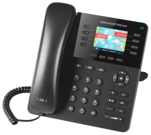 Телефон IP Grandstream GXP2135 8 линий 4 SIP-аккаунта 2x10/100/1000Mbps LCD PoE телефон ip fanvil x4g 4 линии 2x10 100 1000mbps цветной lcd poe
