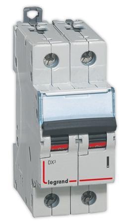 Автоматический выключатель Legrand DX3 6000 10кА тип C 2П 25А 407802 выключатель legrand quteo 2 клавишный серый 782332