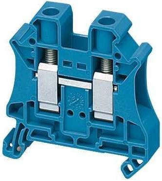 Клеммник Schneider Electric винтовой проходной сечением провода 10мм 2 точки подключения NSYTRV102BL