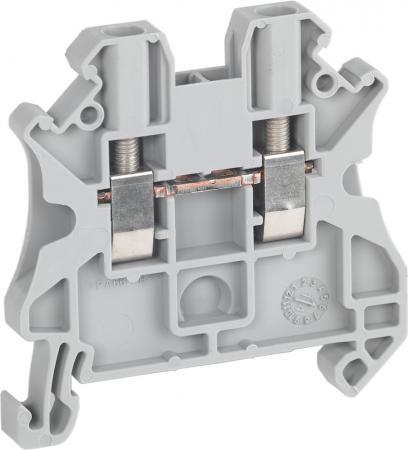 Клеммник Schneider Electric винтовой проходной сечением провода 2.5мм 2 точки подключения NSYTRV22 переходник bnc male клеммник винтовой