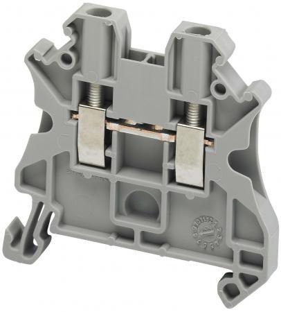 Клеммник Schneider Electric винтовой проходной сечением провода 4мм 2 точки подключения NSYTRV42