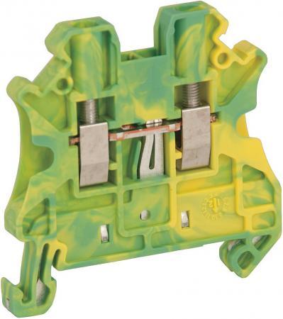 Клеммник Schneider Electric винтовой с заземлением сечением провода 2.5мм 2 точки подключения NSYTRV22PE