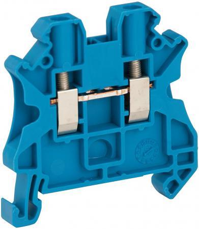 Клеммник Schneider Electric винтовой проходной сечением провода 4мм 2 точки подключения NSYTRV42BL