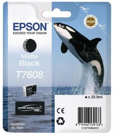 Картридж Epson C13T76084010 для Epson SC-P600 матовый черный vilaxh for epson p600 chip resetter for epson surecolor sc p600 printer t7601 t7609 cartridge resetter