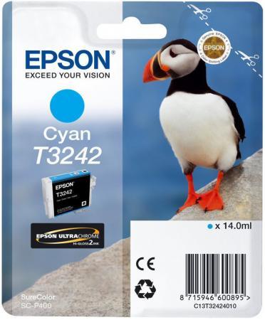 Картридж Epson C13T32424010 для Epson SC-P400 голубой original cc03main mainboard main board for epson l455 l550 l551 l555 l558 wf 2520 wf 2530 printer formatter