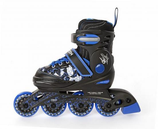 Коньки роликовые пластиковая основа р.34-37 синие X-Match 64610 x match настольная игра хоккей x match 87909