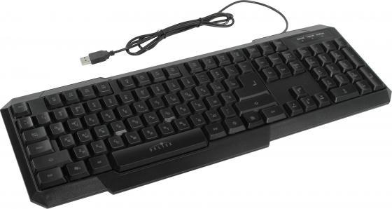Клавиатура проводная Oklick 740G USB черный