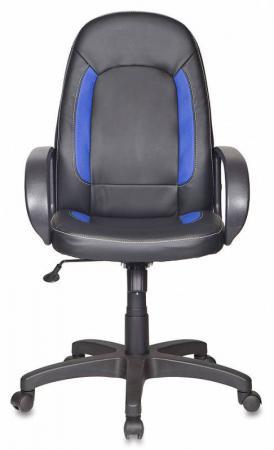 Кресло Бюрократ CH-826/B+BL искусственная кожа черно-синий кресло руководителя бюрократ ch 826 на колесиках искусственная кожа черный бежевый [ch 826 b bg]
