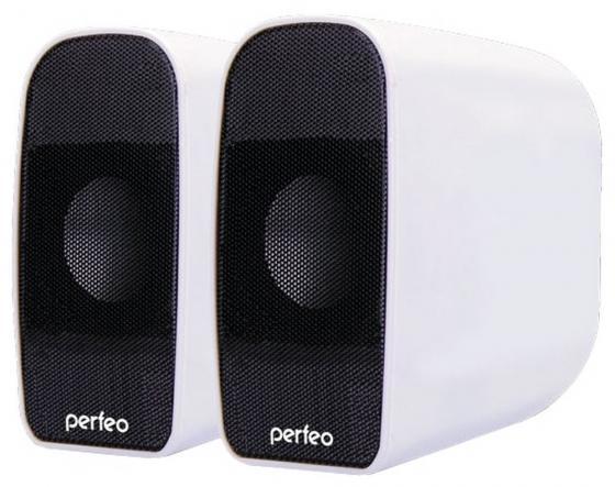 Колонки Perfeo Rondo PF-053 2x3 Вт USB белый колонки cbr cms 660 2x3 вт черный