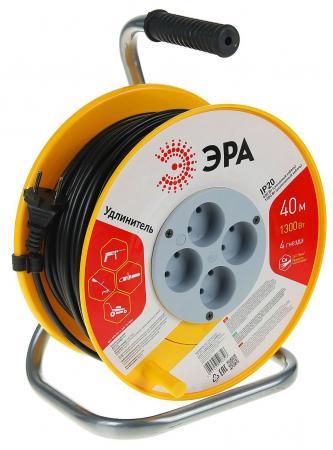 Удлинитель Эра RP-4-2x0.75-40m 4 розетки 40 м оранжевый белый черный удлинитель эра силовой с заземлением 4 розетки rm 4 3x1 40m 40 м