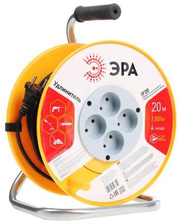 Удлинитель Эра RP-4-2x0.75-20m 1 розетка 20 м удлинитель эра uf 1 2x0 75 10m 1 розетка 10 м оранжевый