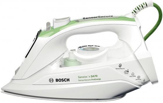 Утюг Bosch TDA 702421 E 2400Вт белый зелёный утюг bosch tda1024140 2400вт жёлтый белый